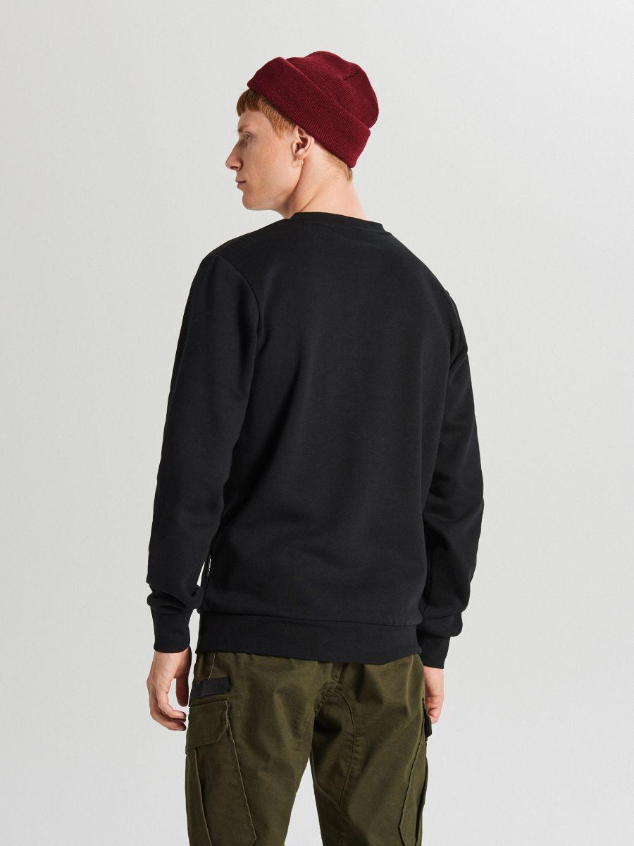 Bluza z nadrukiem - CZARNY - WX635-99X - Cropp - 3