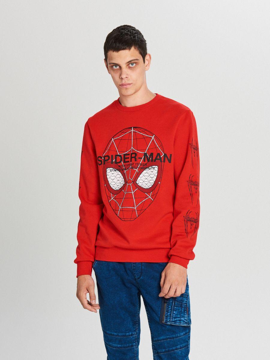 Bluza Spiderman - CZERWONY - WX639-33X - Cropp - 1