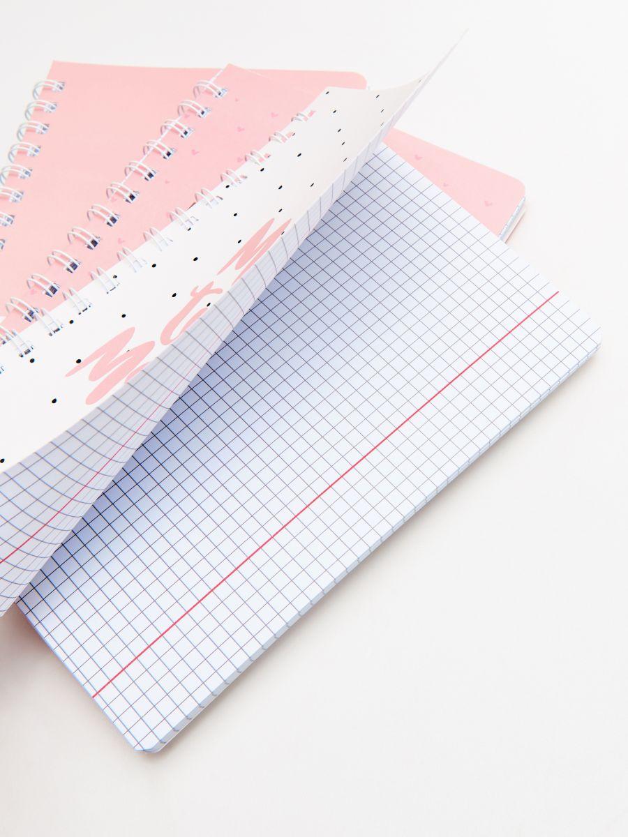 Zestaw: planer, zeszyty i ołówki - RÓŻOWY - XA361-03X - Cropp - 2