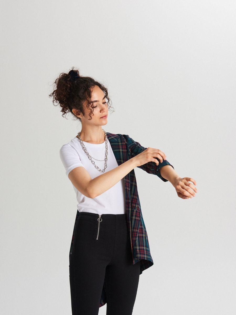 Koszulka basic z krótkim rękawem - BIAŁY - XB123-00X - Cropp - 2