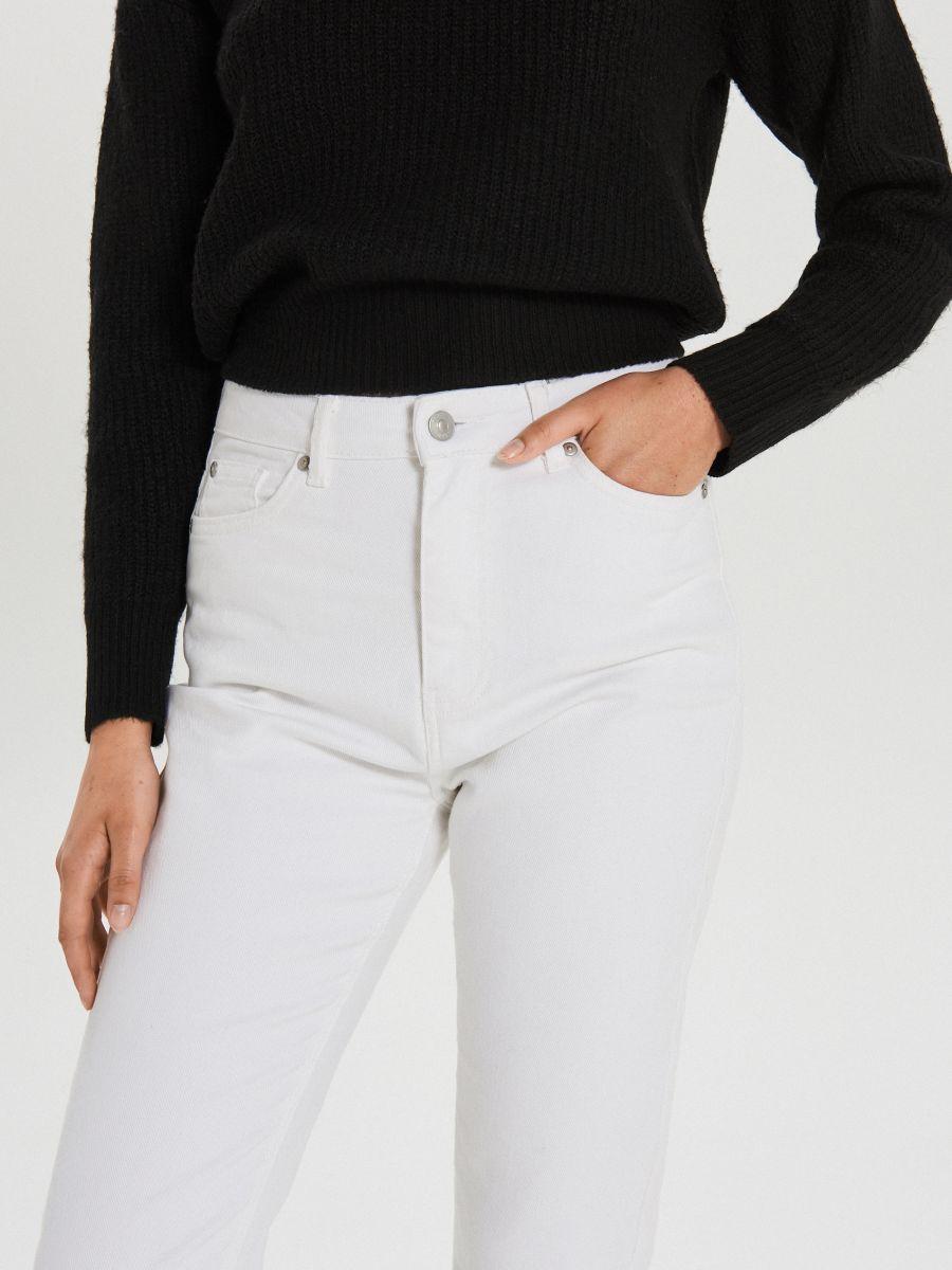 Białe jeansy straight - BIAŁY - XD947-00J - Cropp - 3