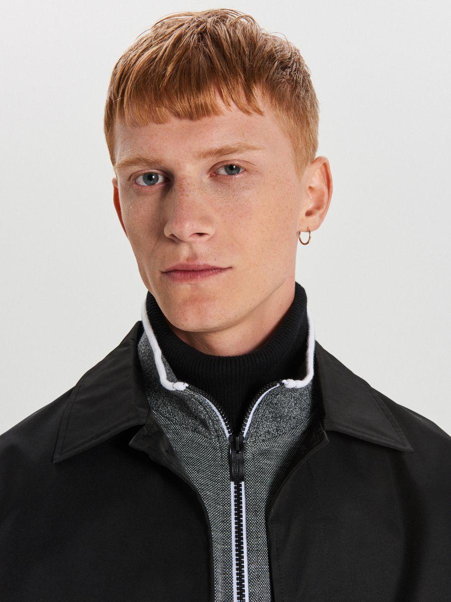 Rozpinana bluza typu track jacket - JASNY SZARY - XG626-09M - Cropp - 3