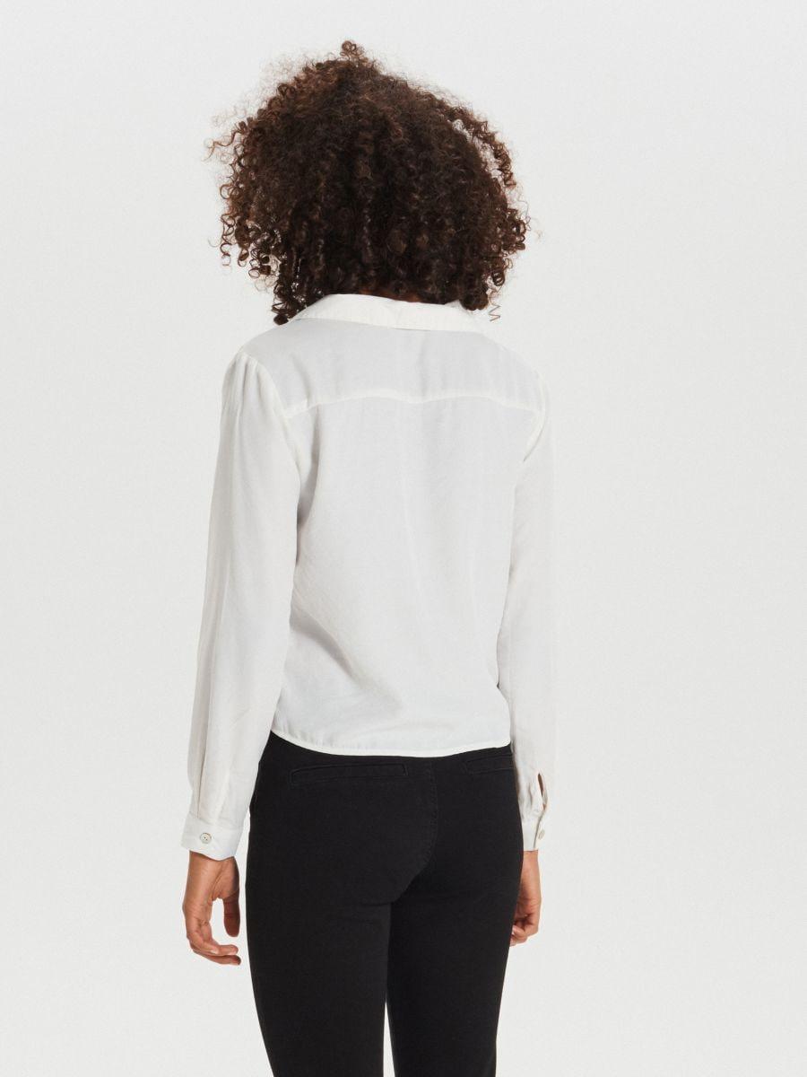 Koszula z kieszeniami - KREMOWY - XI755-01X - Cropp - 4
