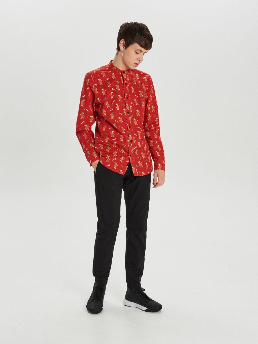Koszula świąteczna - CZERWONY - XK014-33X - Cropp - 3