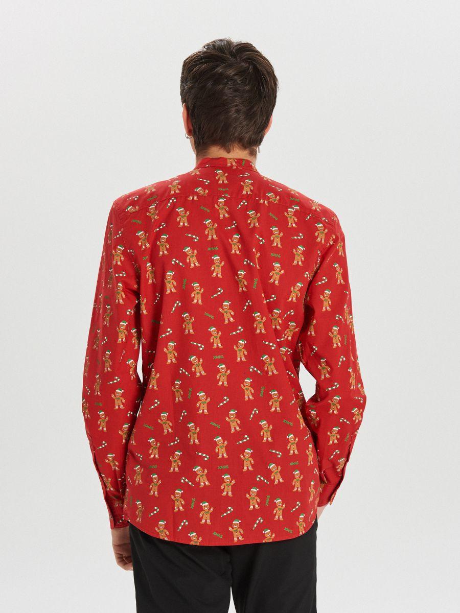 Koszula świąteczna - CZERWONY - XK014-33X - Cropp - 6