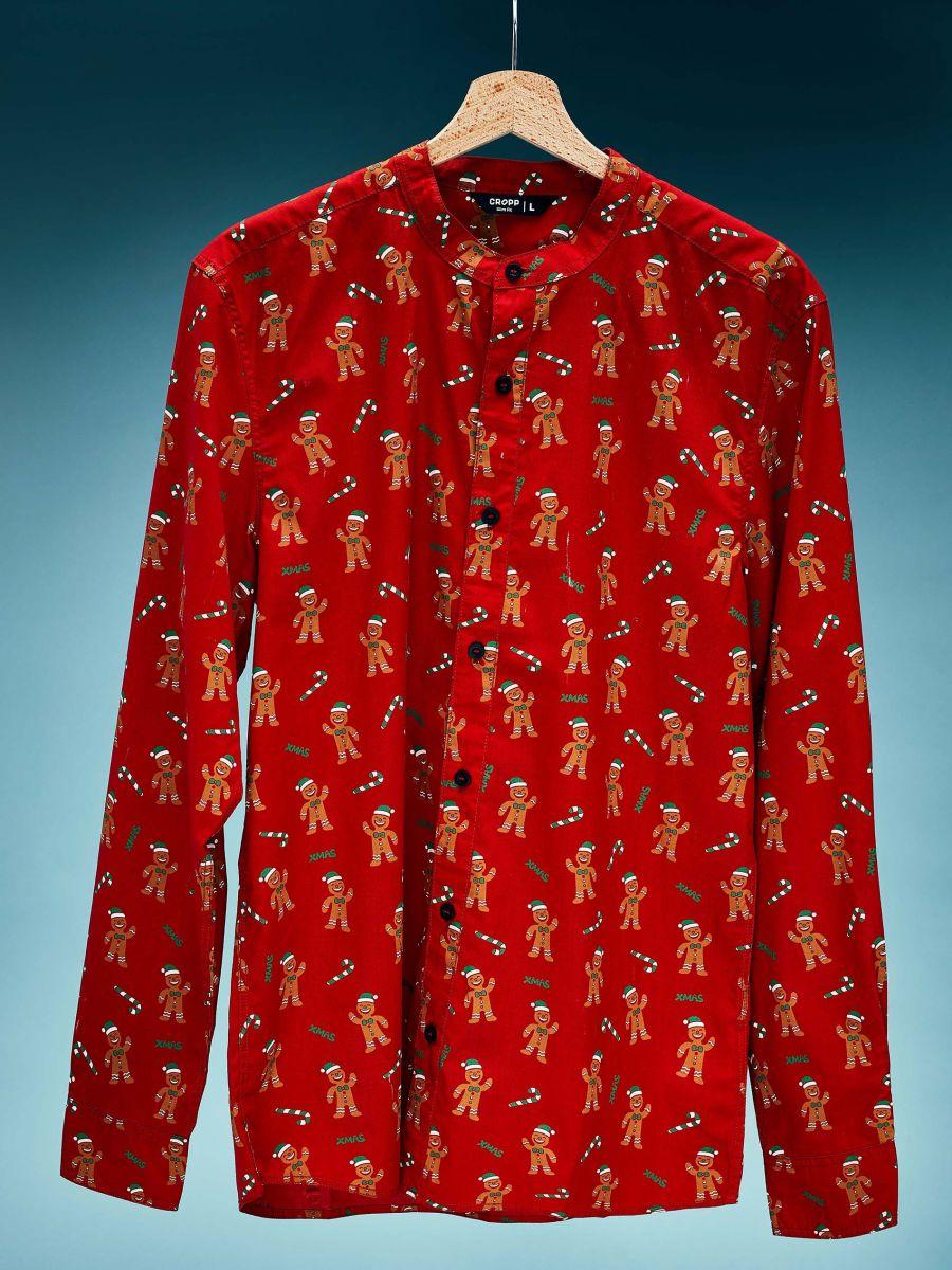 Koszula świąteczna - CZERWONY - XK014-33X - Cropp - 1