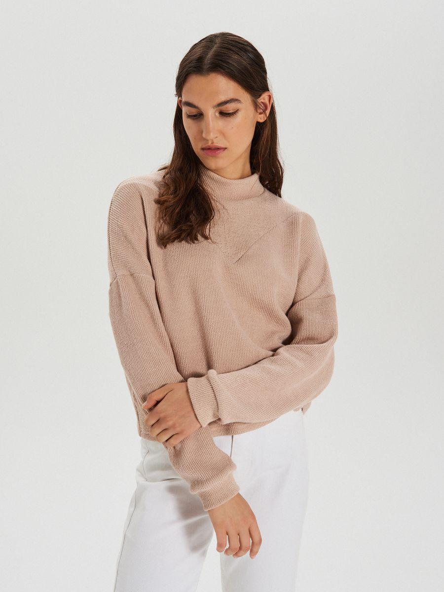 Bluza z półgolfem - KREMOWY - XL212-02X - Cropp - 2