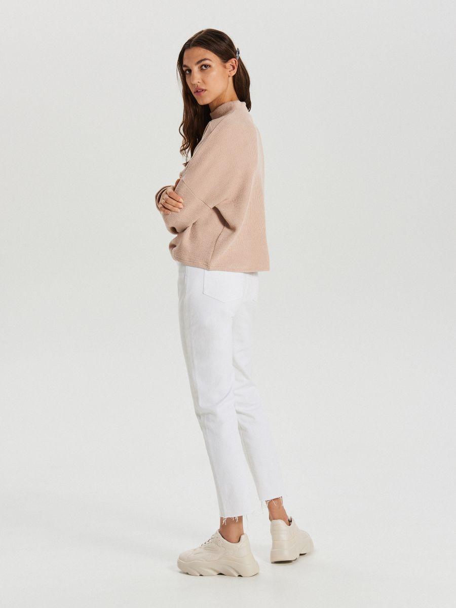 Bluza z półgolfem - KREMOWY - XL212-02X - Cropp - 4