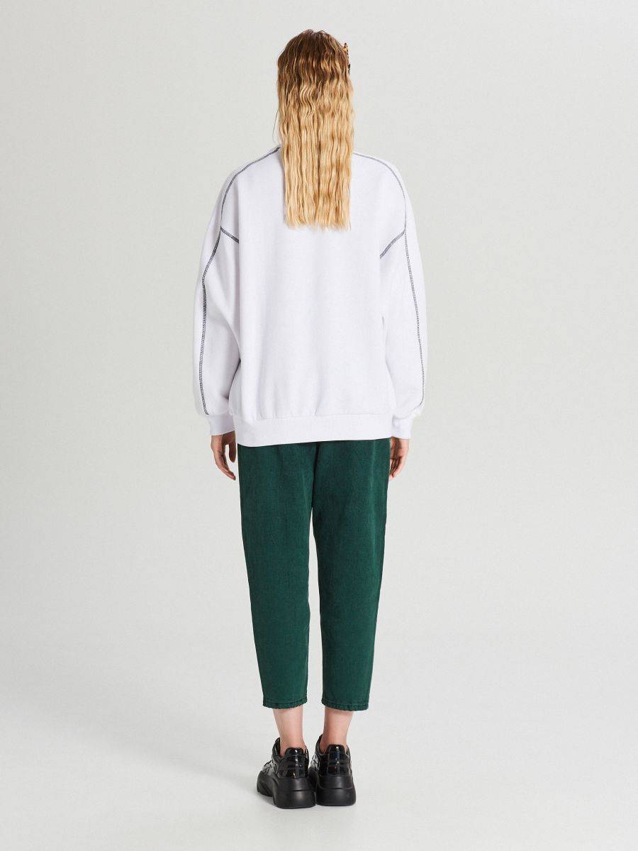Bluza z nadrukiem - BIAŁY - XL214-00X - Cropp - 4