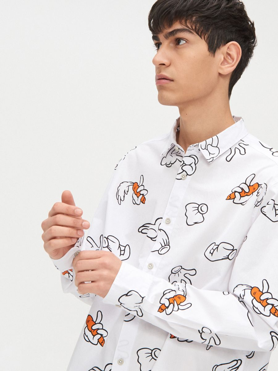 Koszula Looney Tunes - BIAŁY - XR117-00X - Cropp - 2