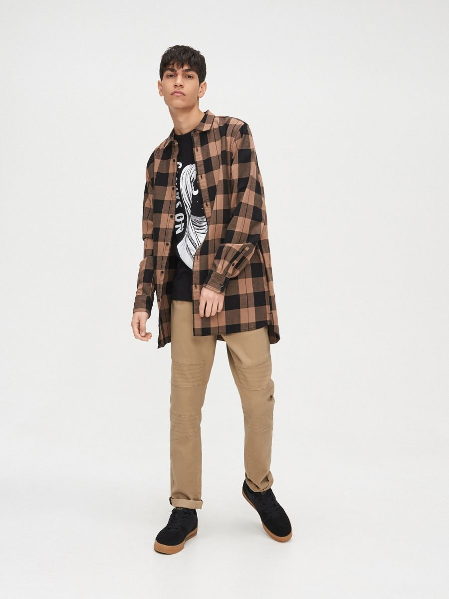 Długa koszula  - ŻÓŁTY - XR129-18X - Cropp - 2
