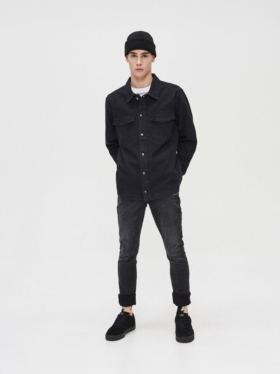 Bawełniana koszula  - CZARNY - XR131-99X - Cropp - 2