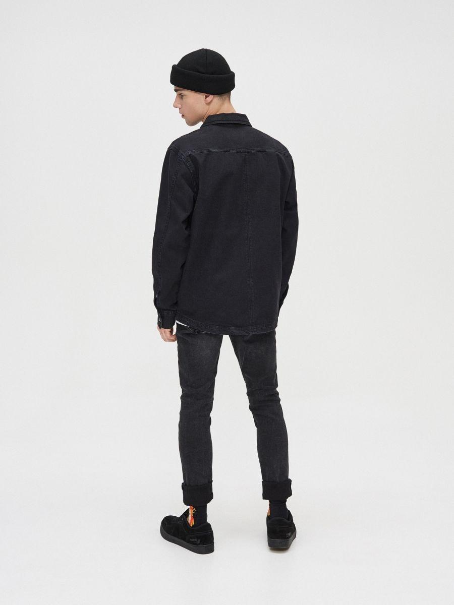 Bawełniana koszula  - CZARNY - XR131-99X - Cropp - 5