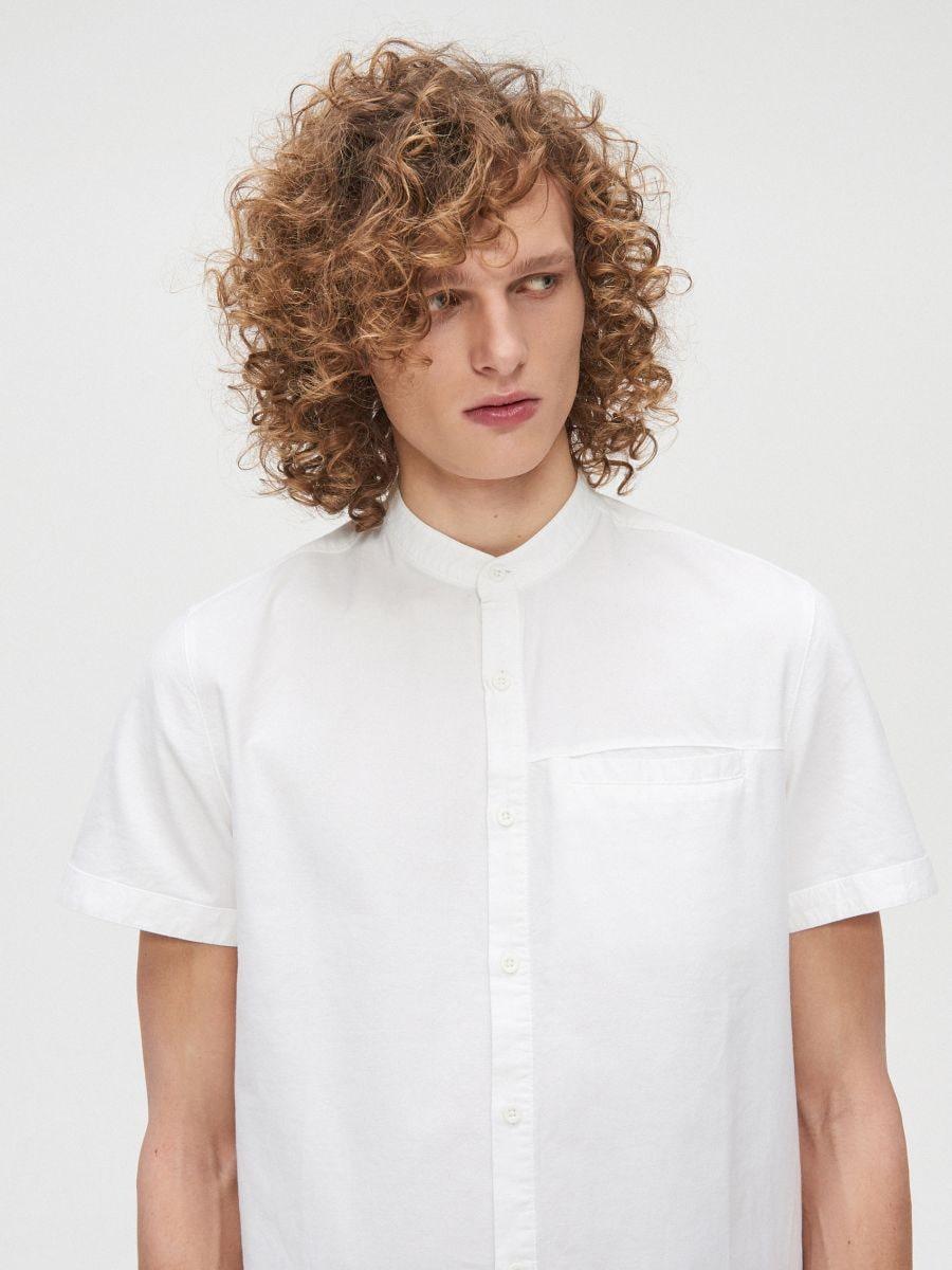 Bawełniana koszula ze stójką - BIAŁY - XT948-00X - Cropp - 1