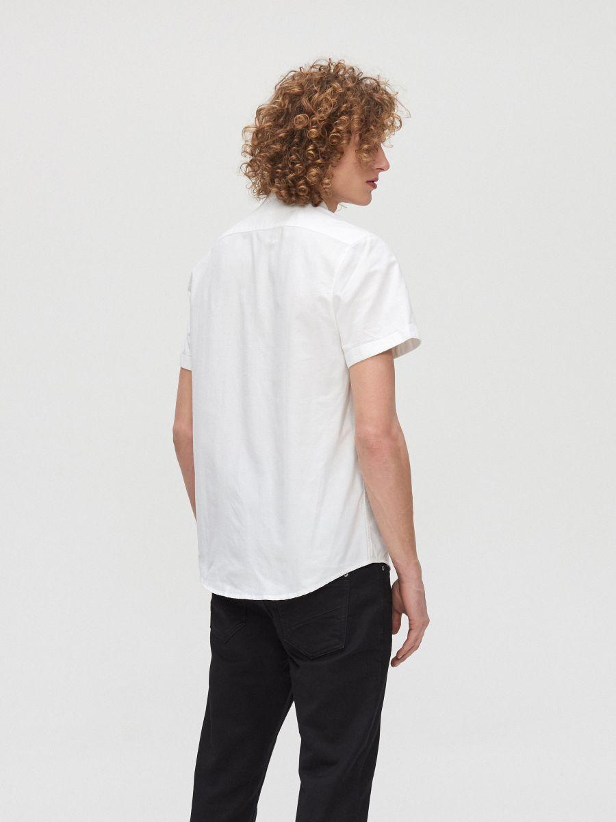 Bawełniana koszula ze stójką - BIAŁY - XT948-00X - Cropp - 4