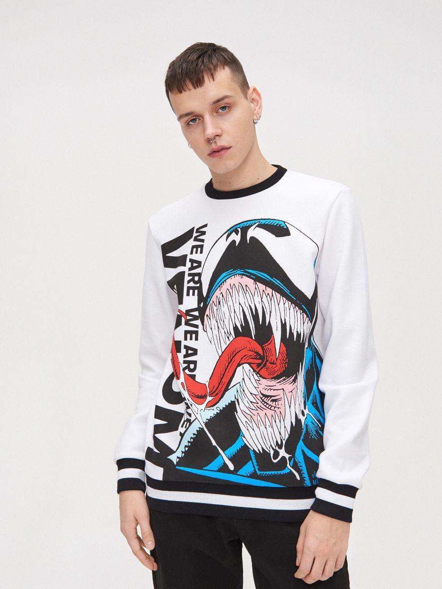 Koszulka Venom - BIAŁY - XW461-00X - Cropp - 3
