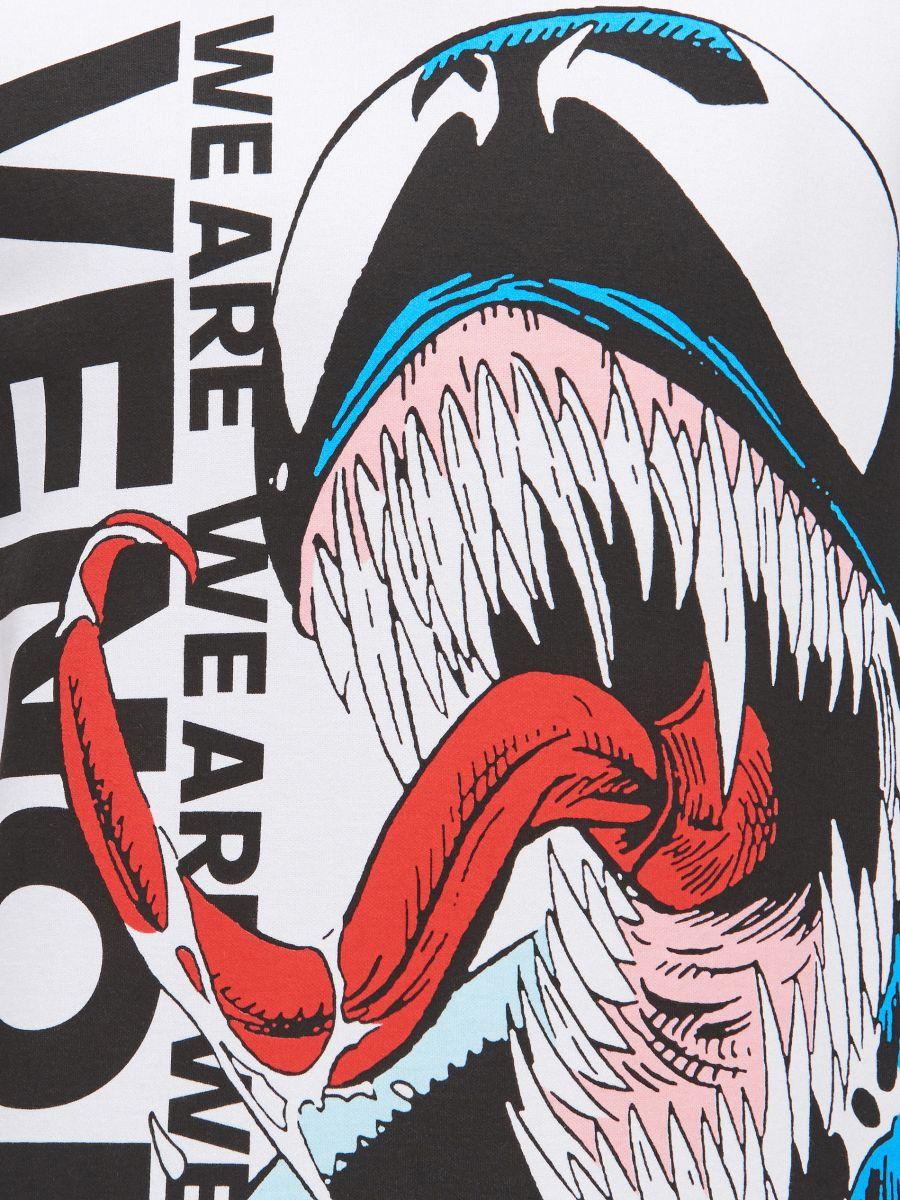 Koszulka Venom - BIAŁY - XW461-00X - Cropp - 4