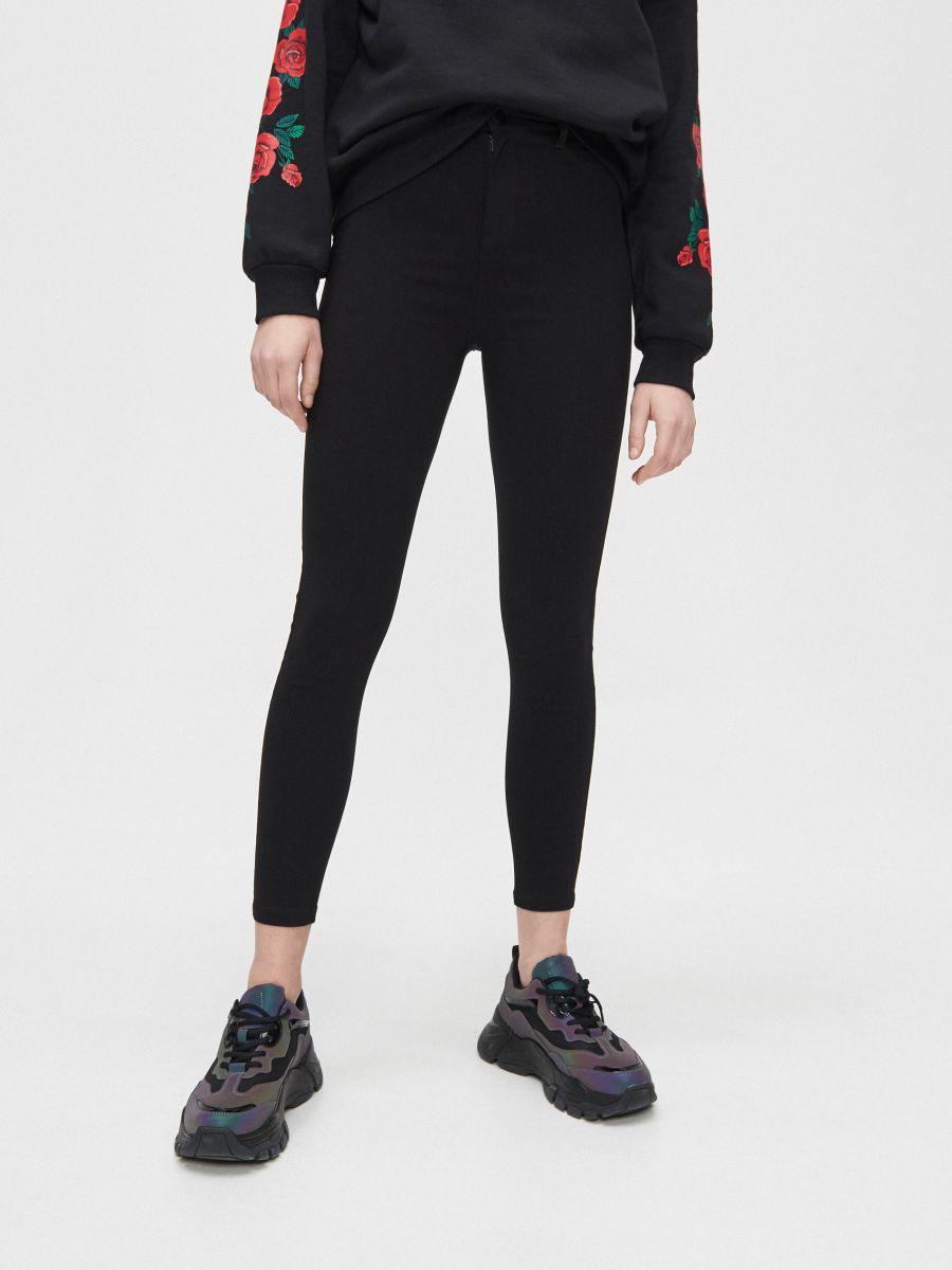 Spodnie high waist - CZARNY - XY252-99X - Cropp - 2