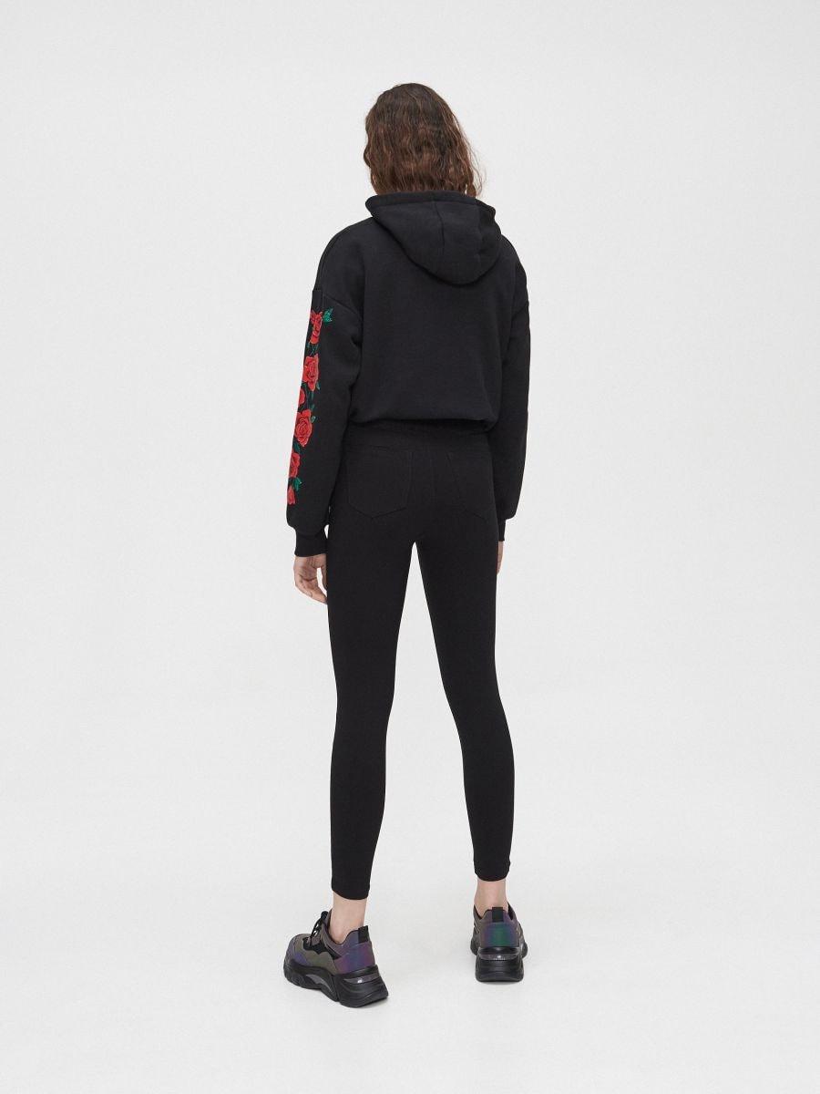 Spodnie high waist - CZARNY - XY252-99X - Cropp - 4