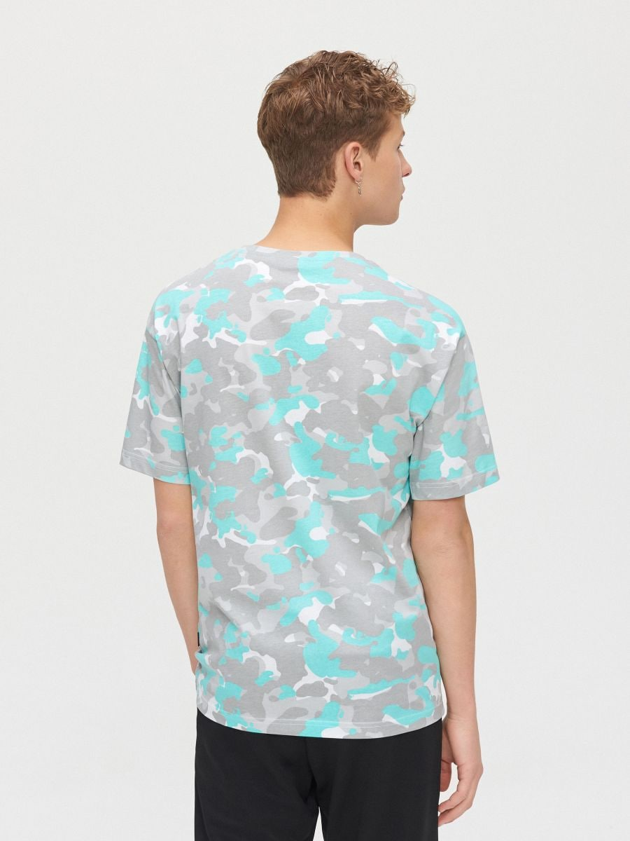 Koszulka moro z napisem - BIAŁY - XZ384-00X - Cropp - 4