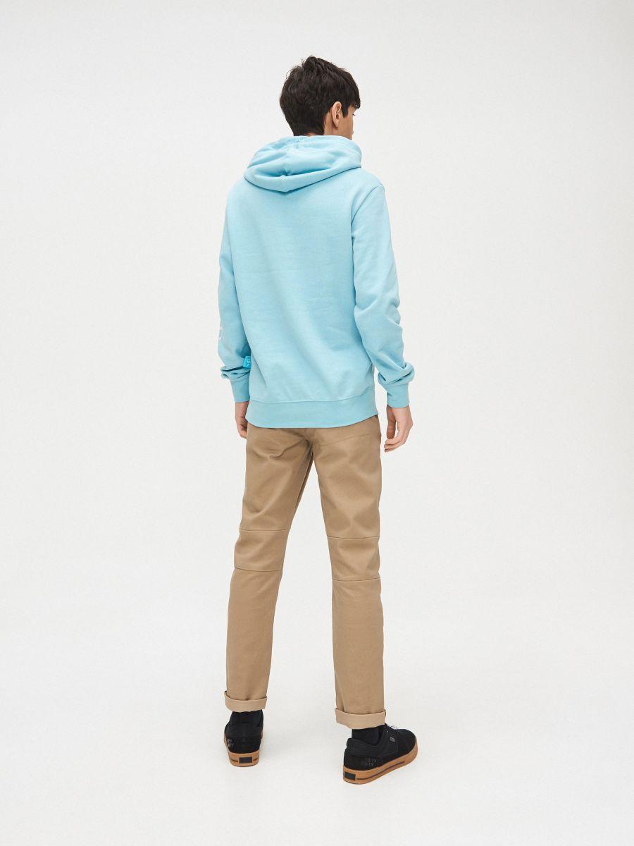 Bluza kangurka z kapturem - NIEBIESKI - YB733-50X - Cropp - 5