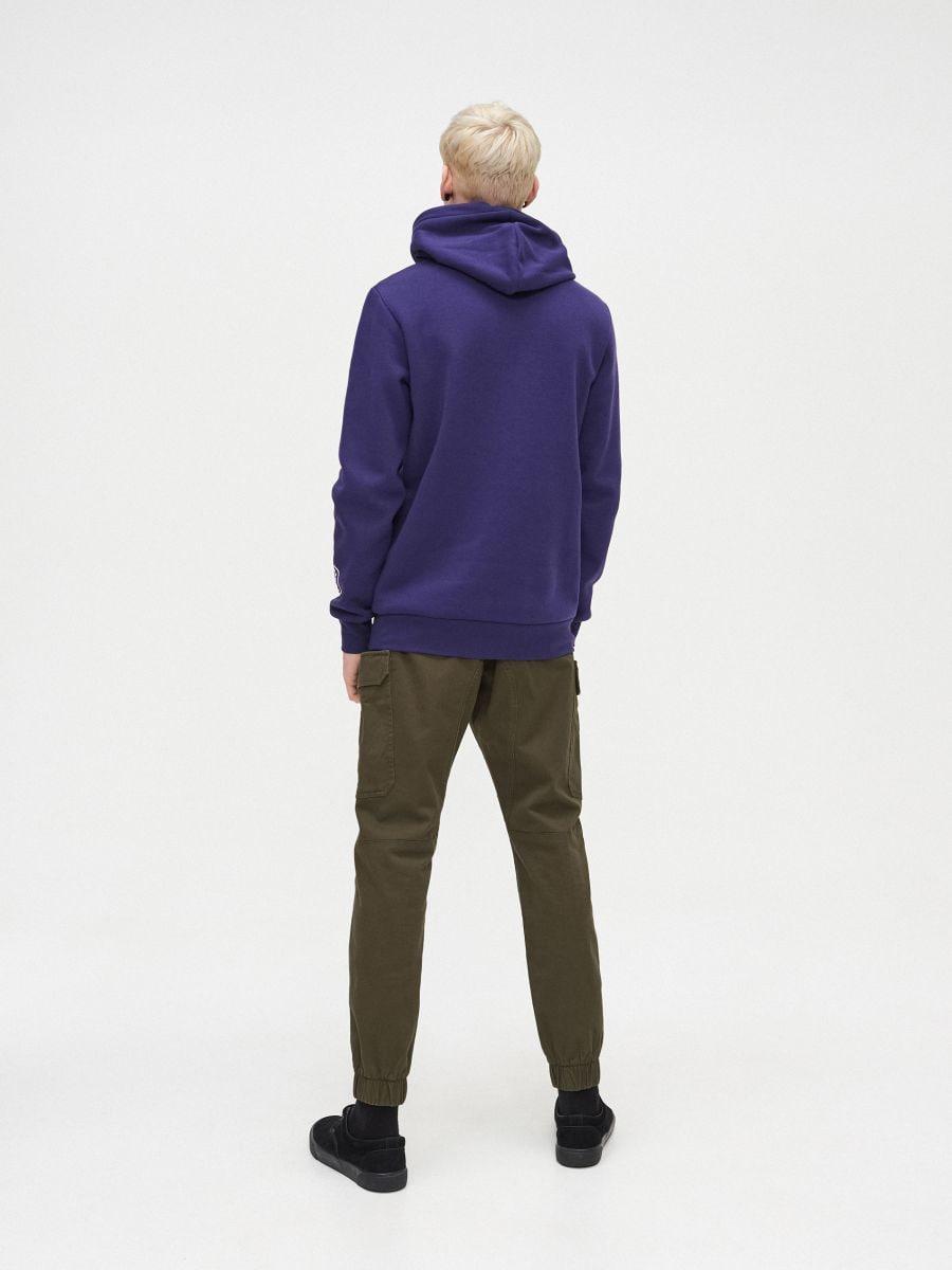 Bluza z kapturem - FIOLETOWY - YB745-45X - Cropp - 4