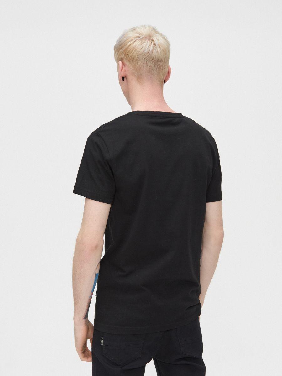 Koszulka z water printem - CZARNY - YD653-99X - Cropp - 4