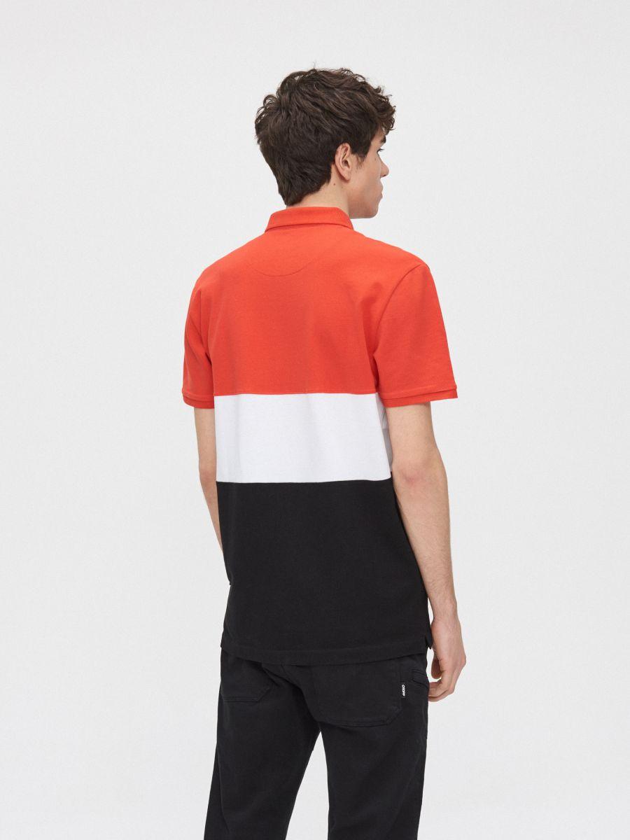 Kolorowa koszulka polo - CZERWONY - YD669-33X - Cropp - 4