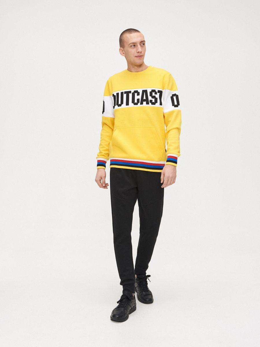 Bluza z kolorowym ściągaczem  - ŻÓŁTY - YD799-11X - Cropp - 1