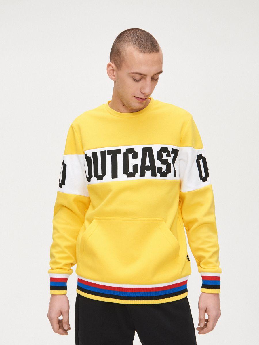 Bluza z kolorowym ściągaczem  - ŻÓŁTY - YD799-11X - Cropp - 3
