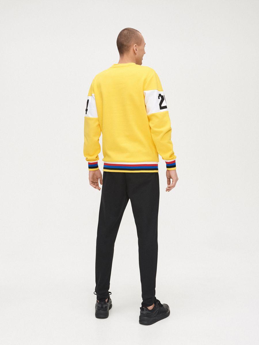 Bluza z kolorowym ściągaczem  - ŻÓŁTY - YD799-11X - Cropp - 4