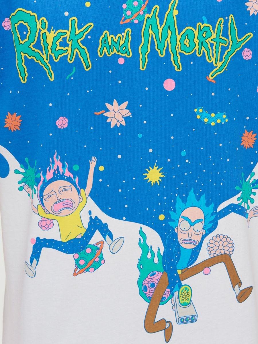 Koszulka Rick and Morty - BIAŁY - ZJ011-00X - Cropp - 4
