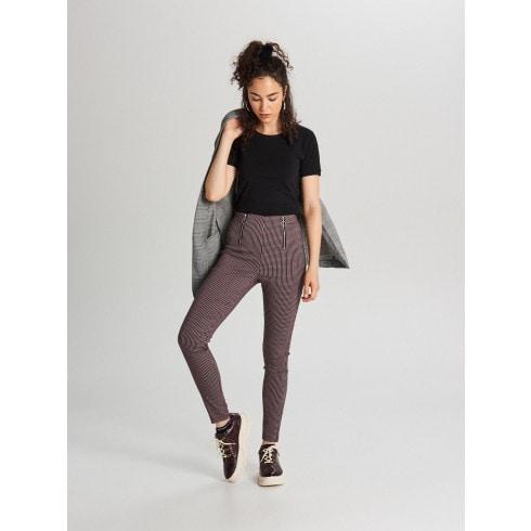 Spodnie high waist z zamkami