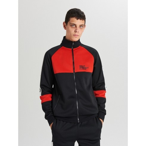 Bluza track jacket z panelami