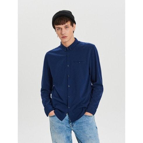 Gładka koszula o kroju slim