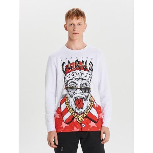 Świąteczna koszulka z długimi rękawami