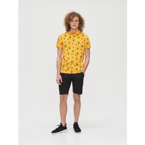 Koszulka polo w kaktusy