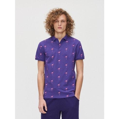 Koszulka polo w flamingi