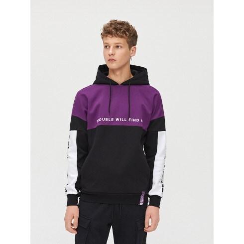 Bluza z fioletowym panelem