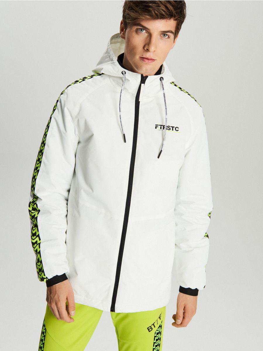 Легкая куртка с капюшоном - белый - VB079-00X - Cropp - 4