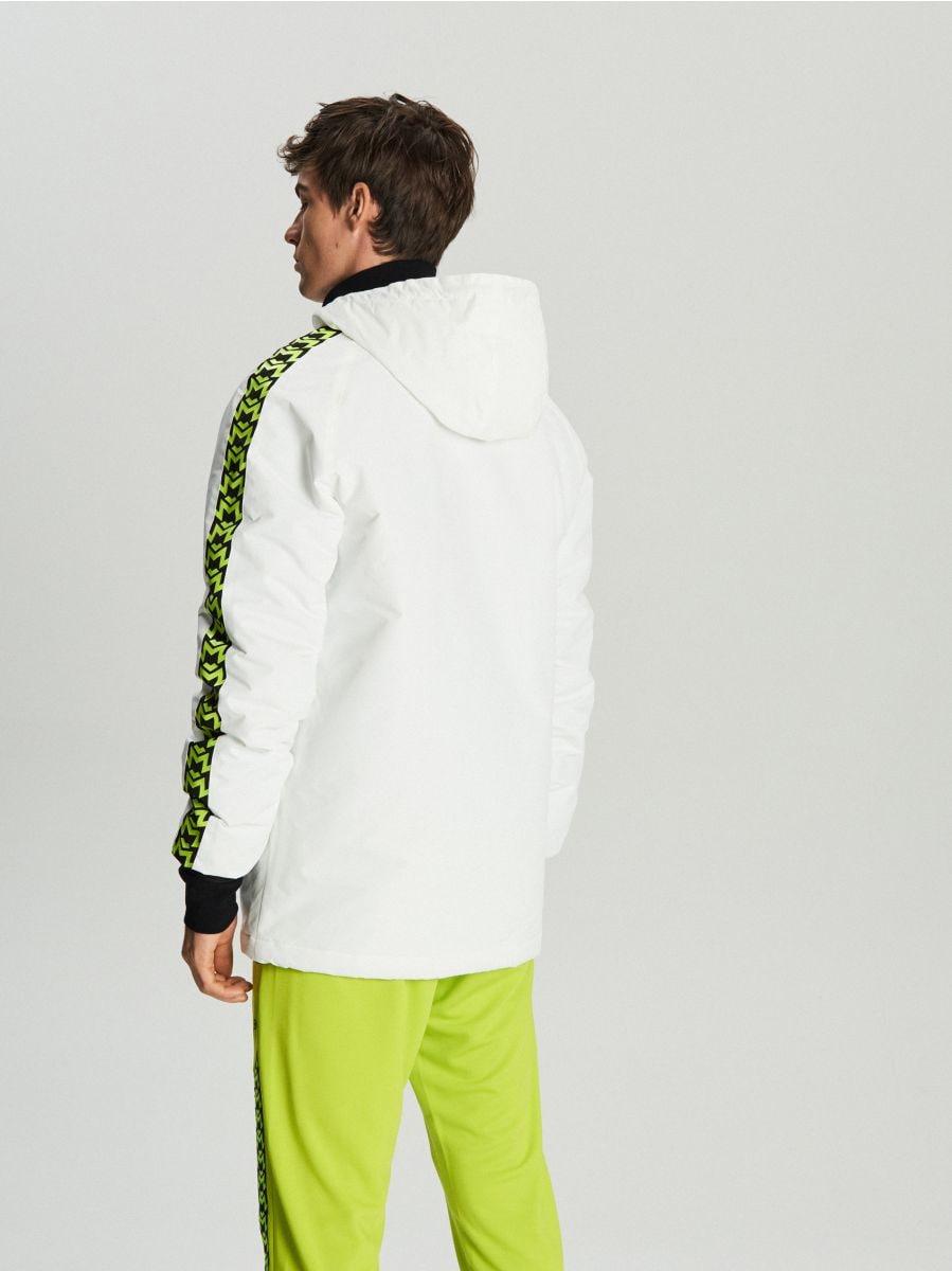 Легкая куртка с капюшоном - белый - VB079-00X - Cropp - 6