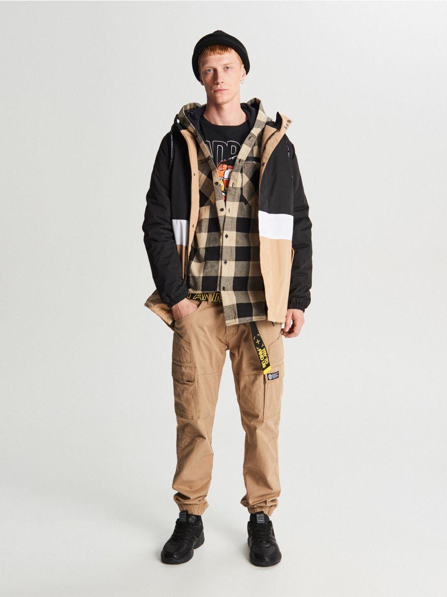 Куртка с капюшоном - черный - VB127-99X - Cropp - 1