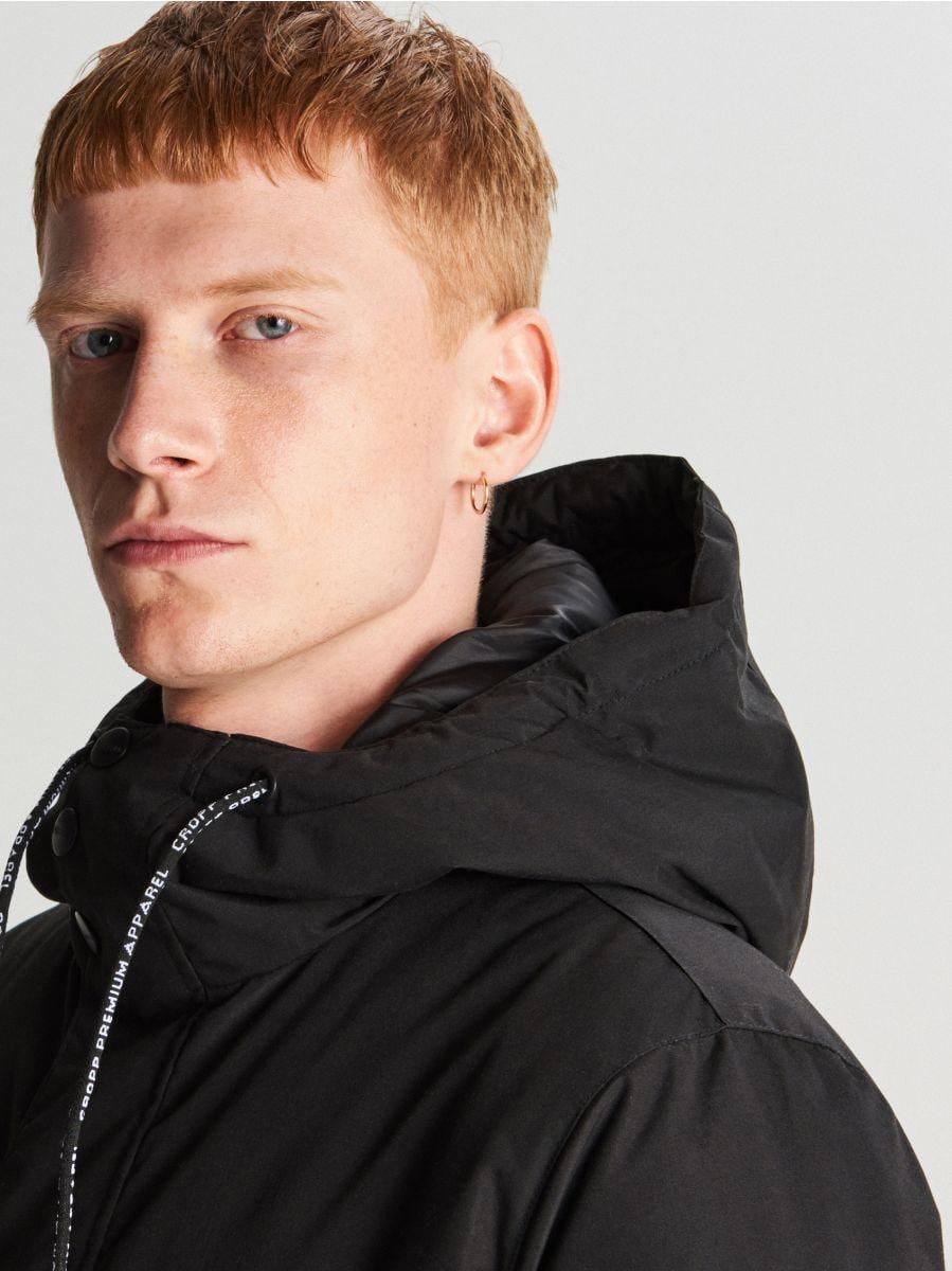 Куртка с капюшоном - черный - VB127-99X - Cropp - 4