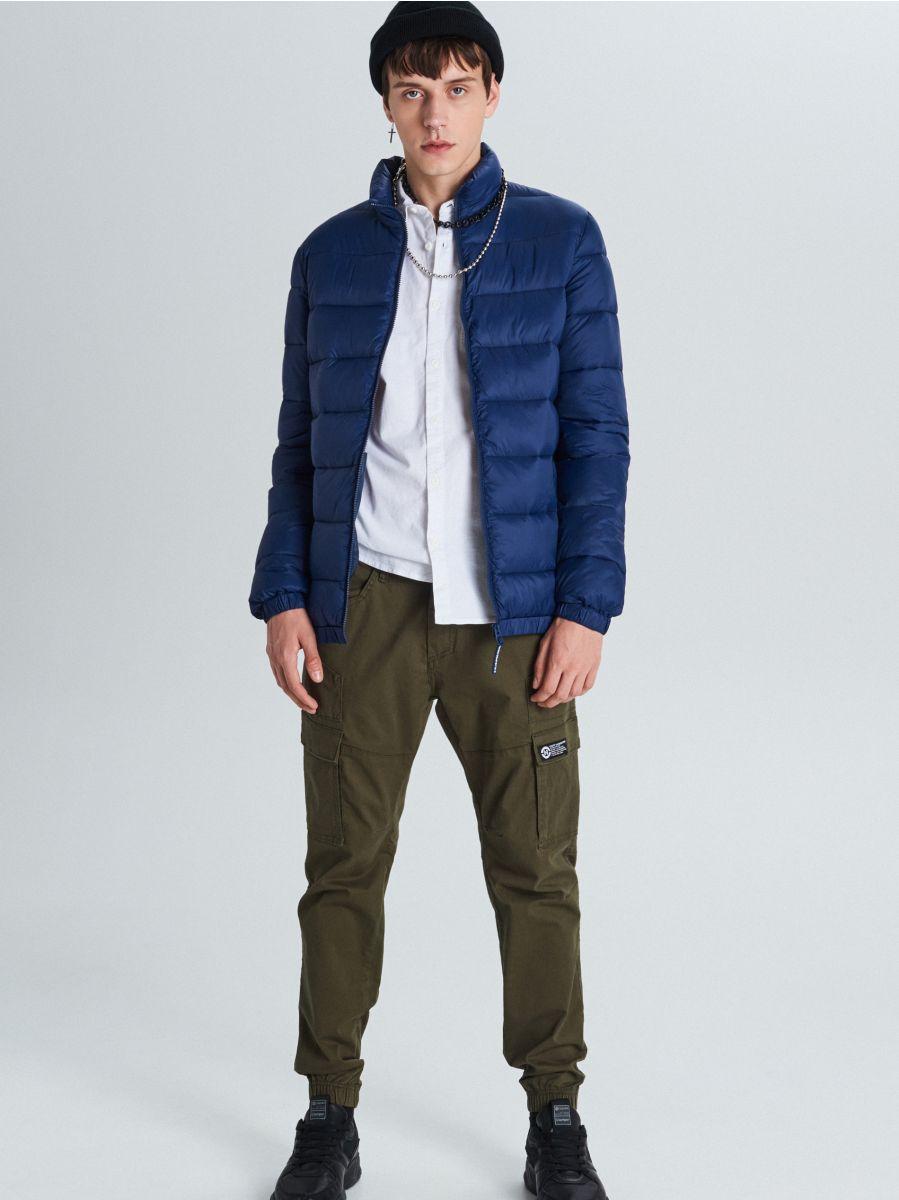 Стеганая куртка - темно-синий - VB156-59X - Cropp - 1