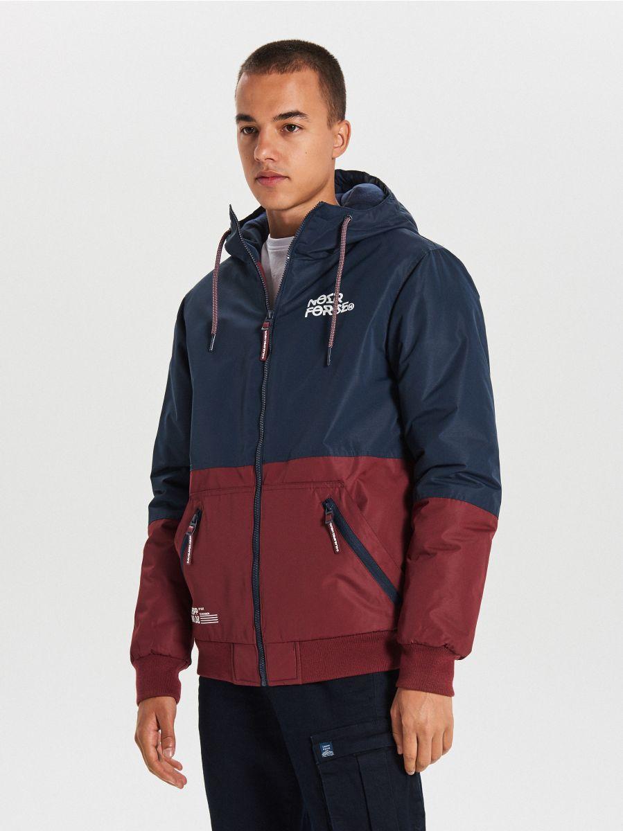 Куртка с капюшоном - темно-синий - VW266-59X - Cropp - 1