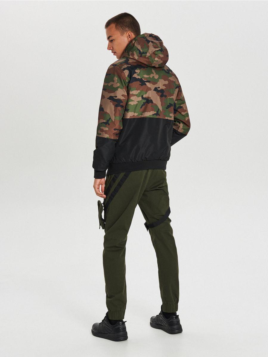 Куртка с капюшоном - хаки - VW266-87X - Cropp - 5