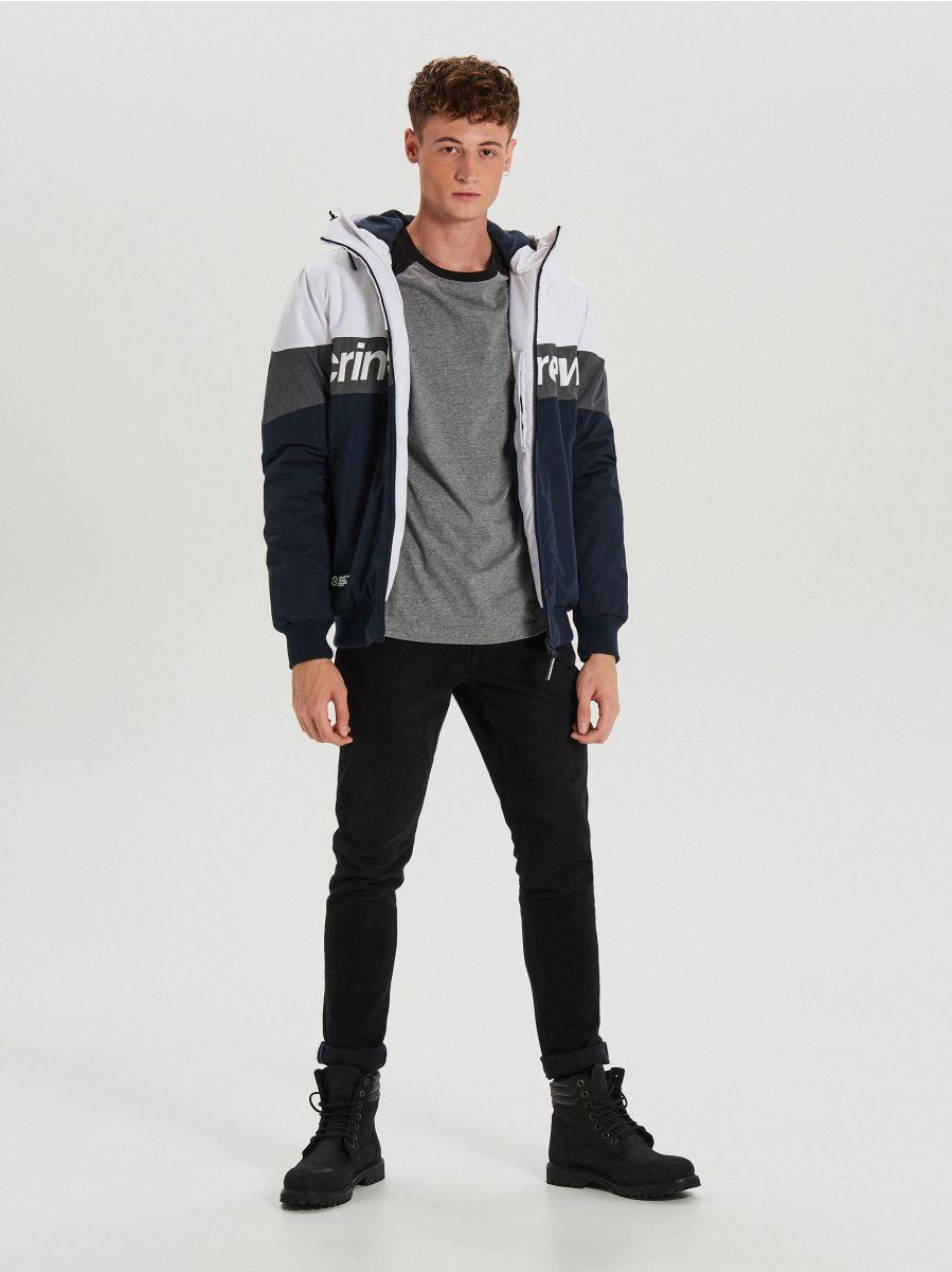 Теплая куртка с капюшоном - темно-синий - VW268-59X - Cropp - 2