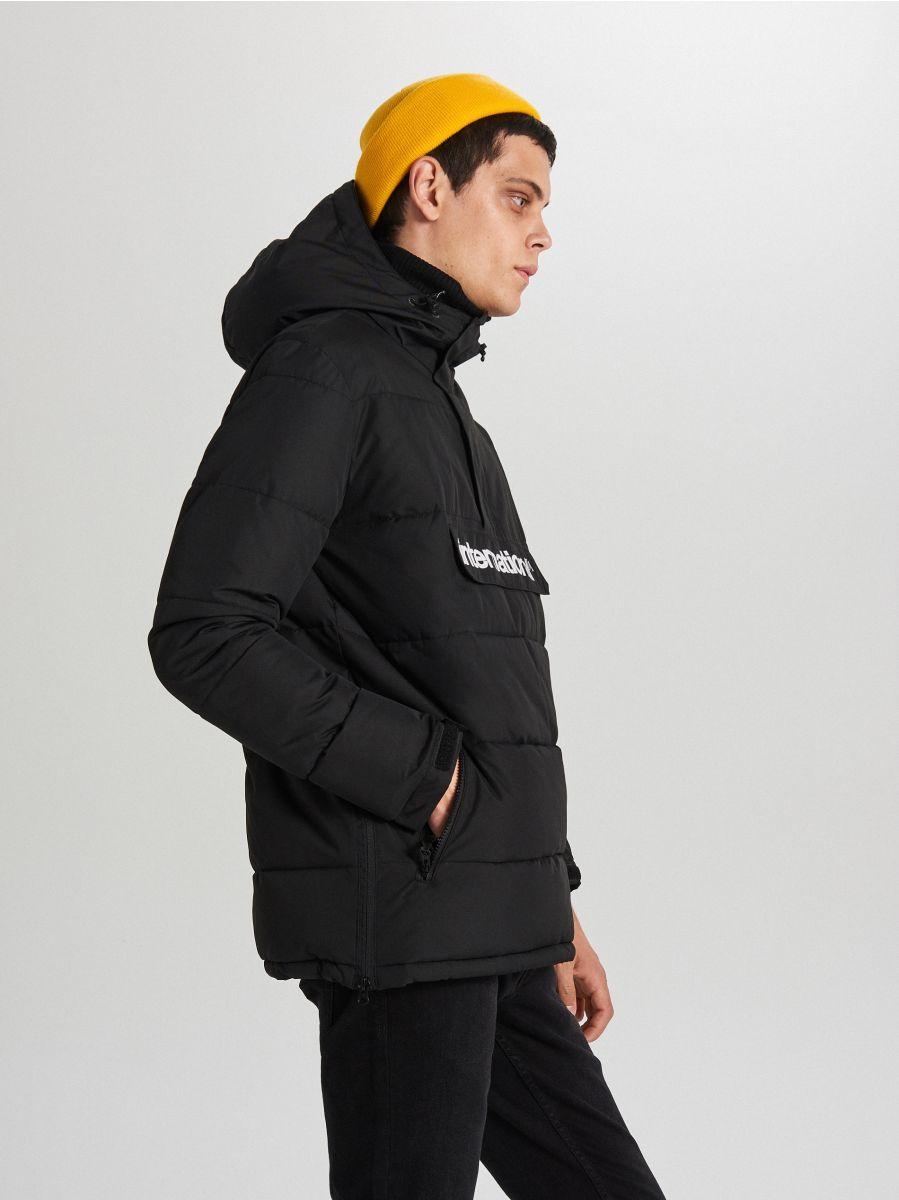 Теплый анорак с капюшоном - черный - WA092-99X - Cropp - 3