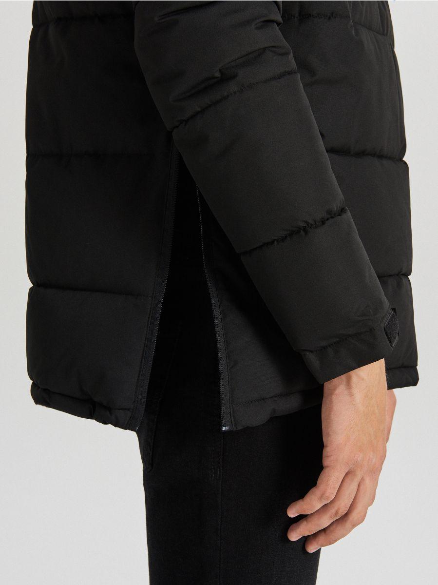 Теплый анорак с капюшоном - черный - WA092-99X - Cropp - 4