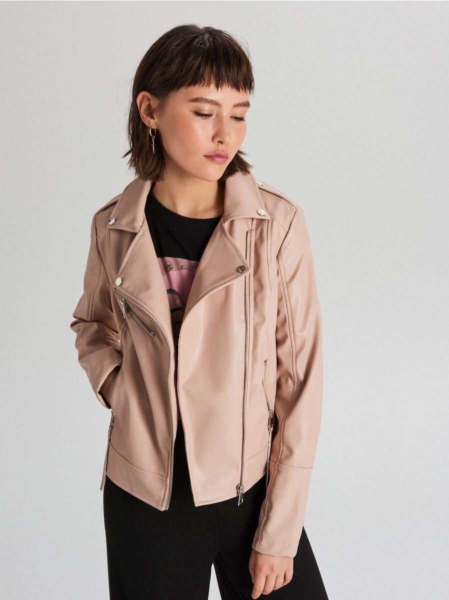 Байкерская куртка - бежевый - WB855-08X - Cropp - 4